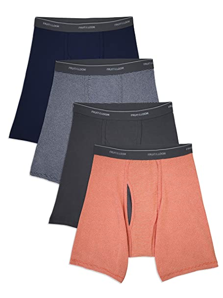 Fruit of the Loom Mens  Stripe Solid Brief Pack of 5