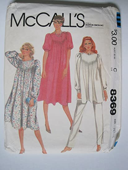a7e0235d6ed7d Amazon.com: McCall's Pattern 8369 Vintage Maternity Dress or Top and ...