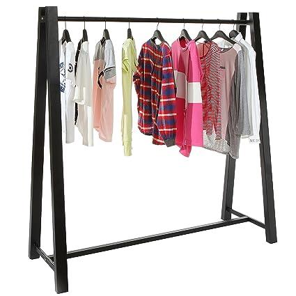 Lovely Modern Black Metal A Frame Clothing Hanger Storage Organizer / Freestanding  Garment Clothes Rack  MyGift