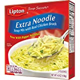 Lipton Soup Secrets Noodle Soup Mix, Extra Noodle Soup 4.9 oz ( Pack Of 12 )