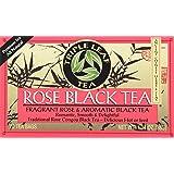 Triple Leaf Tea Black Tea Bags, Rose, 20 Count