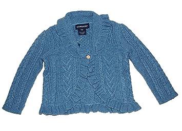 f7f0de604 Amazon.com  Ralph Lauren Infant Polo Girls Blue Cable Guernsey ...