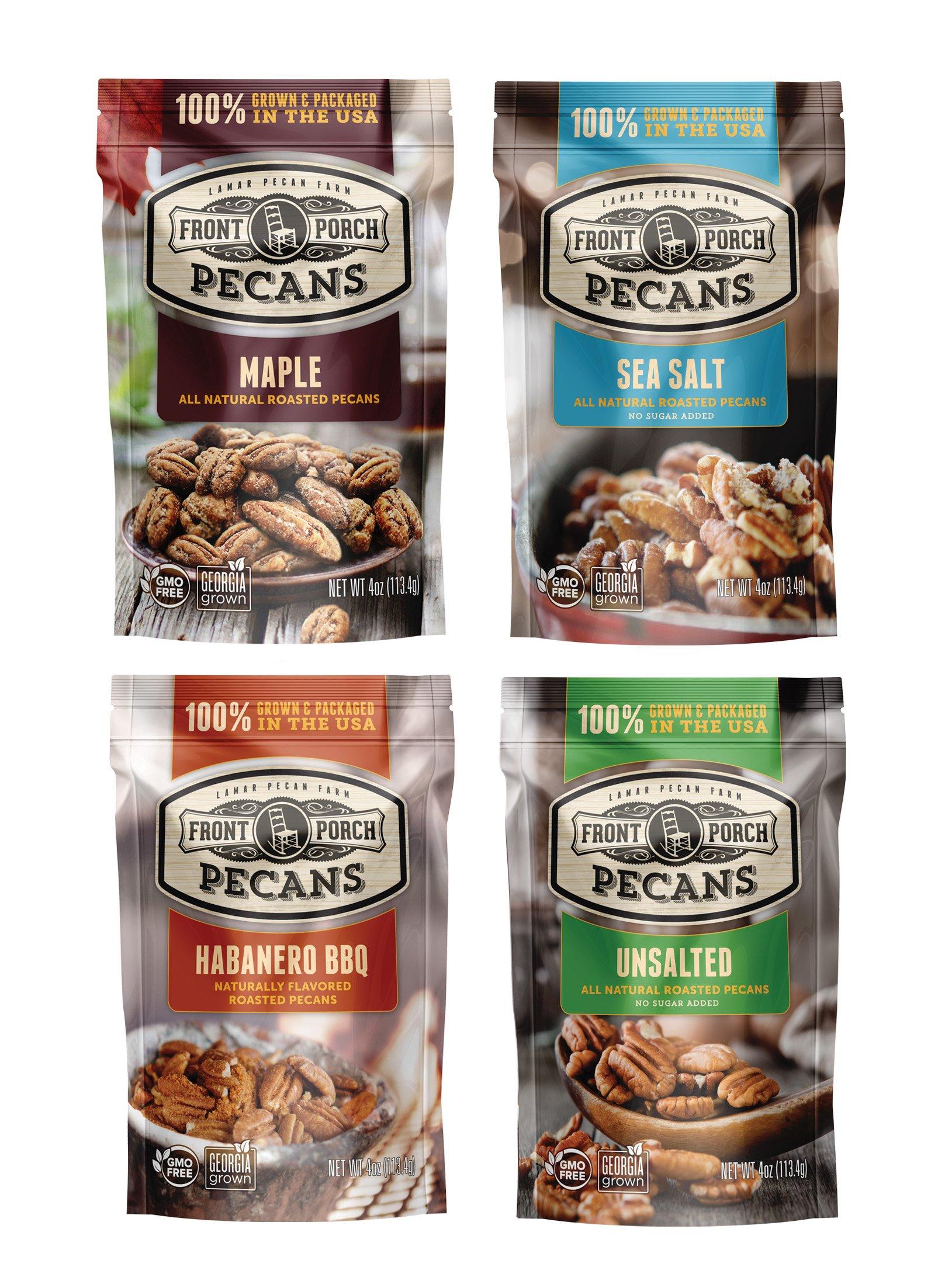 All Natural Roasted Pecans - Sampler Pack of 4