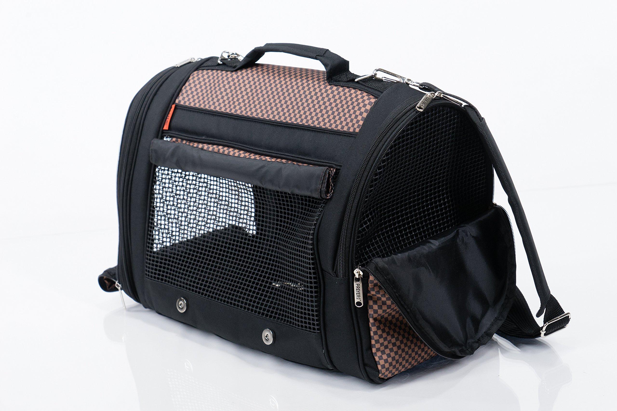 Prefer Pets Travel Gear 358BUR Hideaway Duffle Pet Carrier, Medium, Burgundy