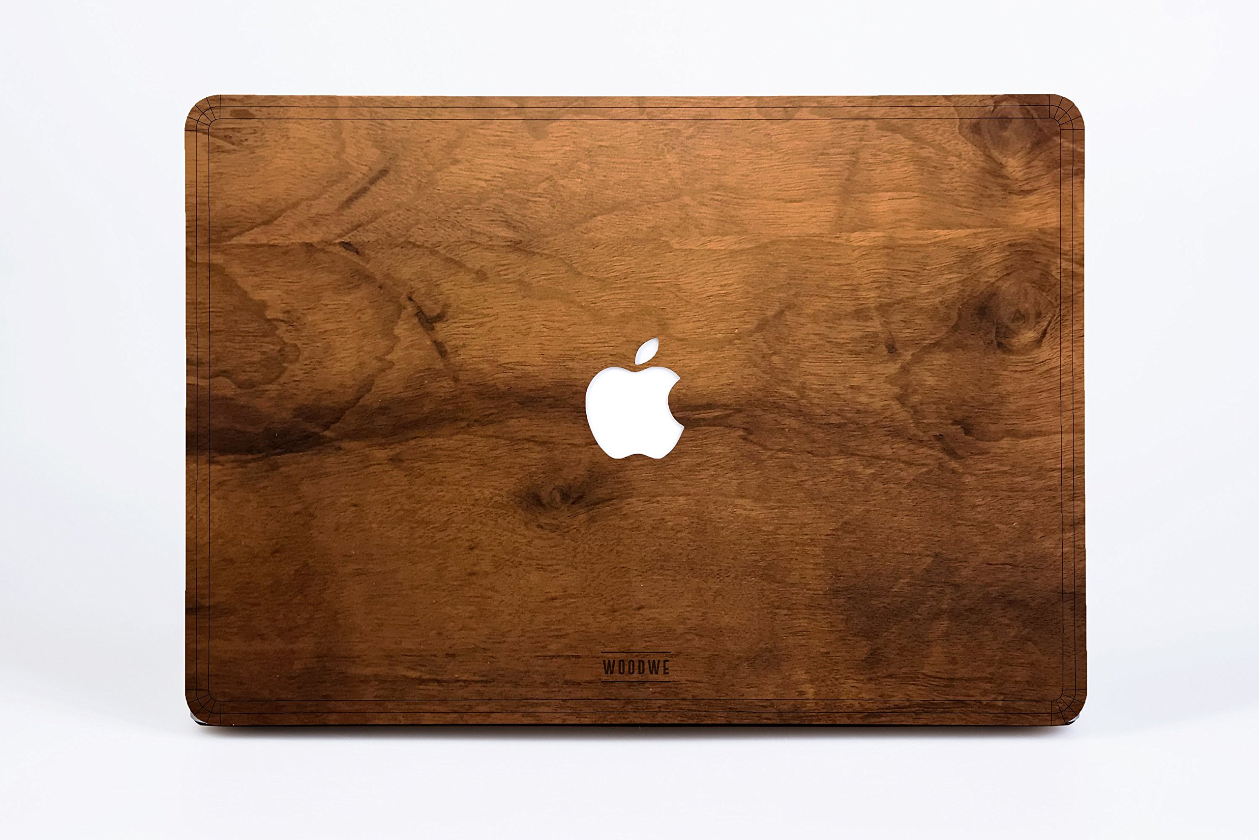 WOODWE Real Wood MacBook Case Cover Skin Sticker Decal for Mac pro 15 inch Retina Display | Model: A1398; Mid 2012 – Mid 2015 | Genuine & Natural IMBUIA Wood | TOP&Bottom Cover by WOODWE (Image #9)