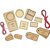Kitchen Craft, set di targhette ed etichette per regali, fatte a mano, 122 pezzi [lingua italiana non garantita]