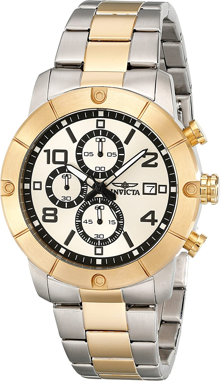 Invicta Men s 17767 Specialty Analog Display Japanese Quartz Two Tone Watch