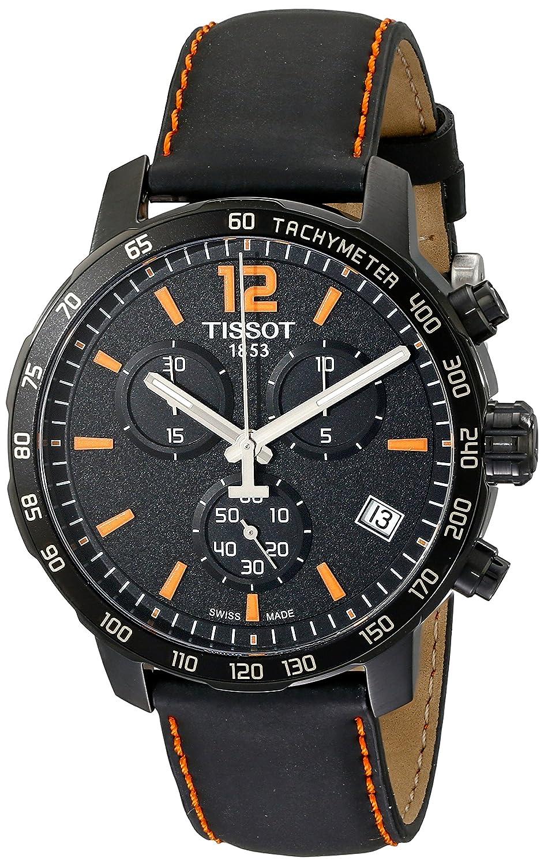 624cb29d437 Amazon.com: Tissot Men's T0954173605700 Quickster Chronograph  Analog-Display Swiss Quartz Black Watch: Tissot: Watches