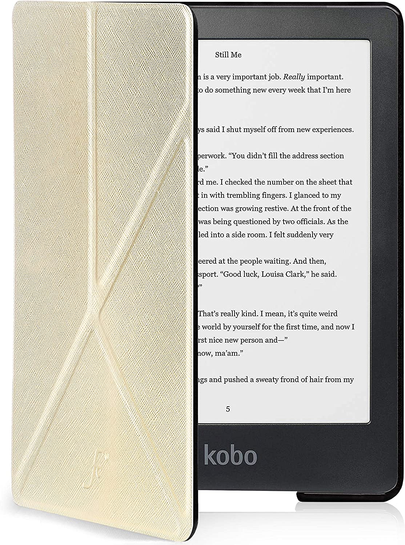 Funda Protectora con Cierre Magn/ético del eBook Reader Azul Marino Delgado y Ligero Forefront Cases Estuche y Soporte para Kobo Clara HD 2018 Plegable Tipo Origami y Funci/ón Wake-Sleep