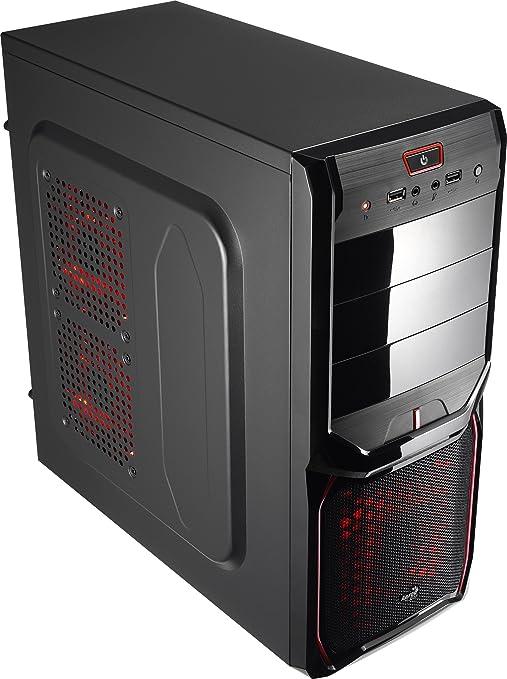 Aerocool V3XAD - Caja gaming para PC (semitorre, ATX, 7 ranuras de expansión, capacidad hasta 4 ventiladores,