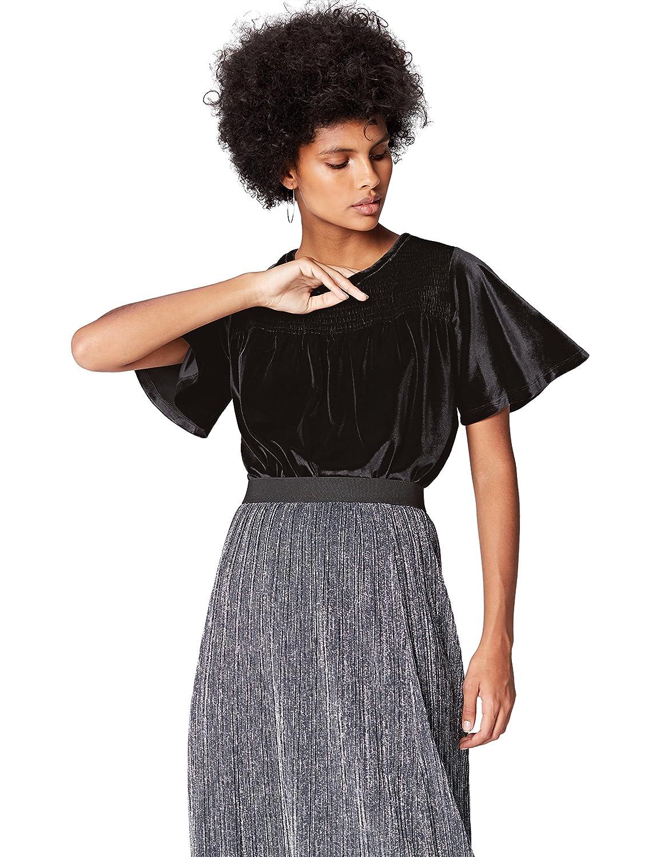 TALLA 46 (Talla del fabricante: XX-Large). Marca Amazon - find. Blusa de Terciopelo para Mujer