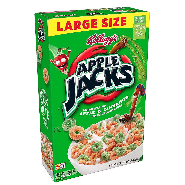 Apple Jacks Low Fat Kellogg's Breakfast Cereal, Original, 14.7 Ounce