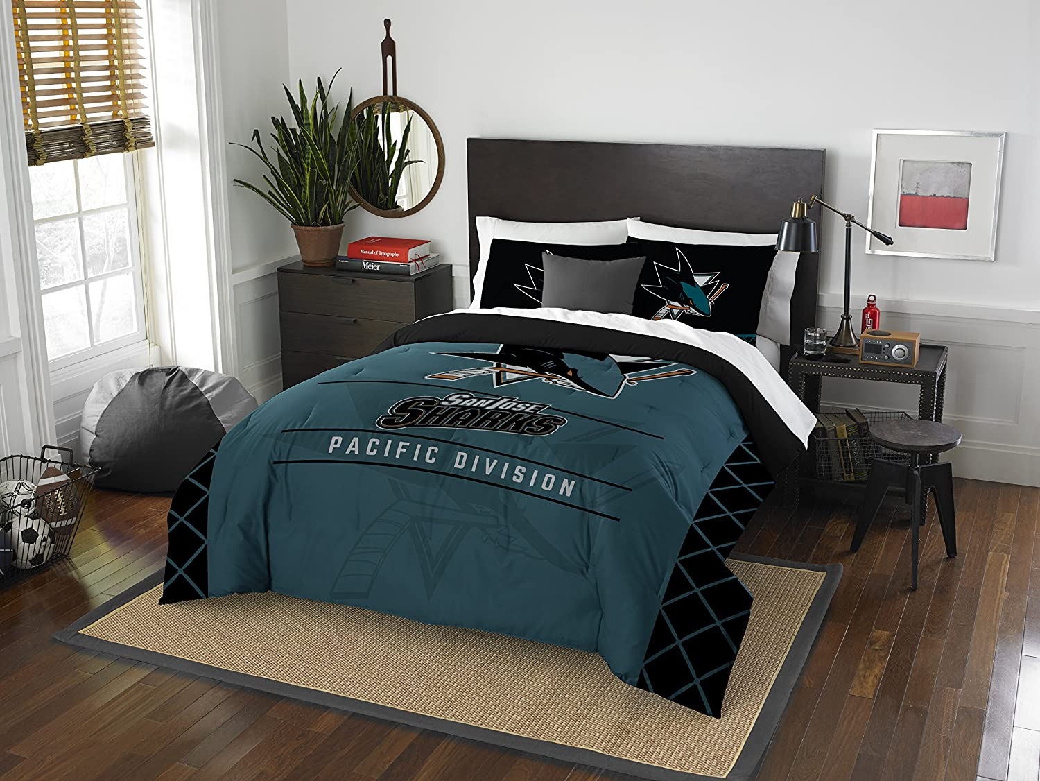 The Northwest Company Officially Licensed NHL Draft Comforter and 2 Sham Set Multiple Sizes Multi Color