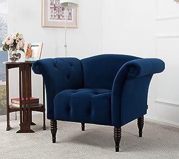 Jennifer Taylor Home Danica Accent Chair Large Navy Blue Furniture Decor