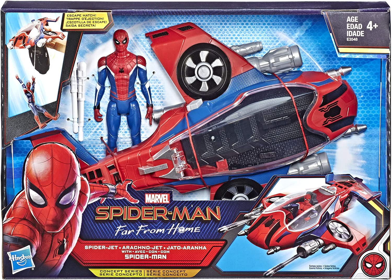 Amazon Com Spider Man Far From Home Spider Jet With Vehicle