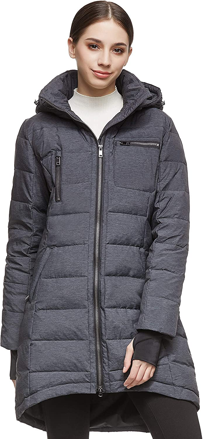 Orolay Women's Down Jacket Coat Mid-Length: Clothing