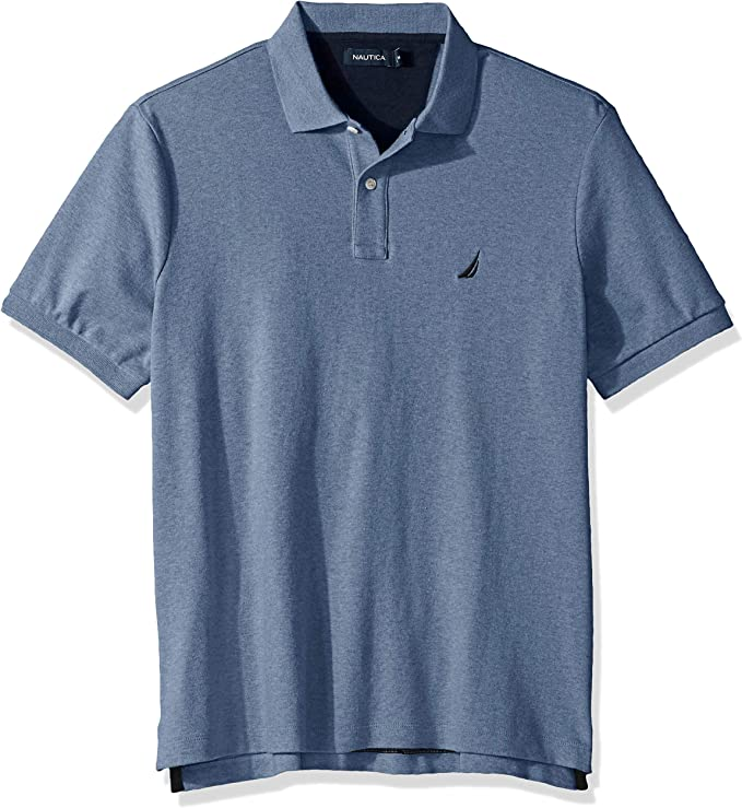 Nautica Men's Classic Fit Short Sleeve Solid Soft Cotton Polo Shirt best men's golf shirt