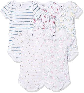 07744d50cfd Petit Bateau Body (Lot de 5 Bébé Fille  Amazon.fr  Vêtements et accessoires
