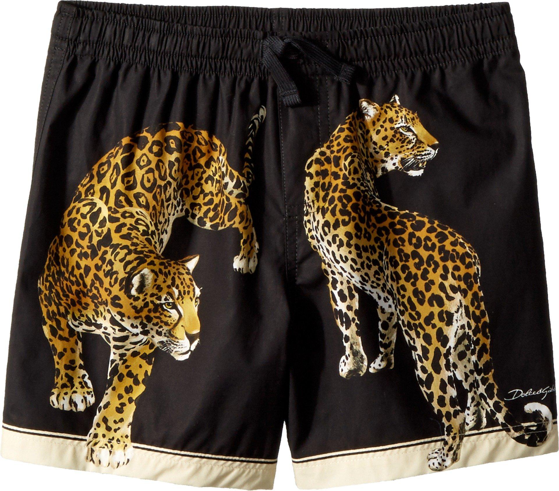 Dolce & Gabbana Kids Baby Boy's Shorts (Toddler/Little Kids) Black Leopard Print 5