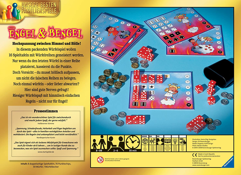 Engel Und Bengel ravensburger 26470 engel bengel amazon co uk toys