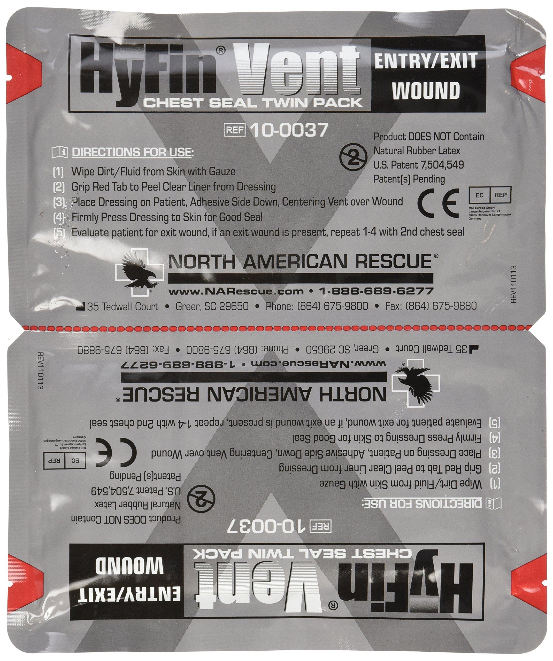 North American Rescue Hyfin Vent Chest Seal, 2 Count by North American Rescue