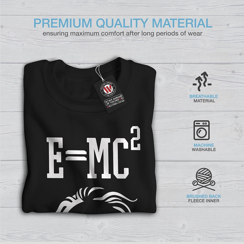Funny Casual Jumper wellcoda Einstein Coffee Mens Sweatshirt
