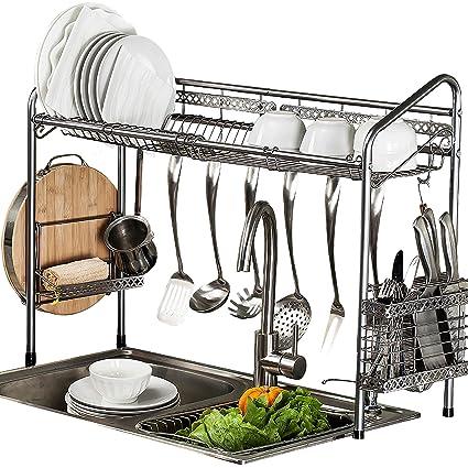 amazon com premiumracks professional over the sink dish rack rh amazon com kitchen sink dish drainer ideas ikea kitchen sink dish drainer