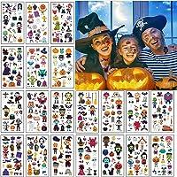 20 Vellen Halloween Tijdelijke Tatoeages, EBANKU Waterdichte Kinder Cartoon Stickers Met Schattig Skelet Uil Pompoen…