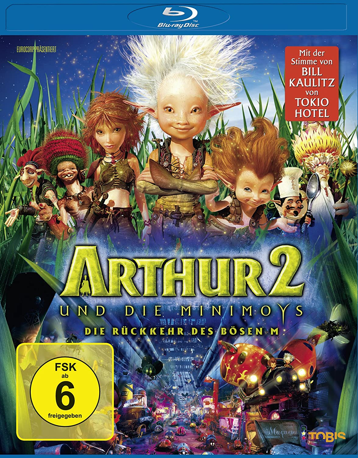Amazon Com Arthur And The Invisibles 2 Ger Arthur Et Les Minimoys Arthur And The Invisibles Two The Return Of The Evil M Blu Ray Reg A B C Import Germany