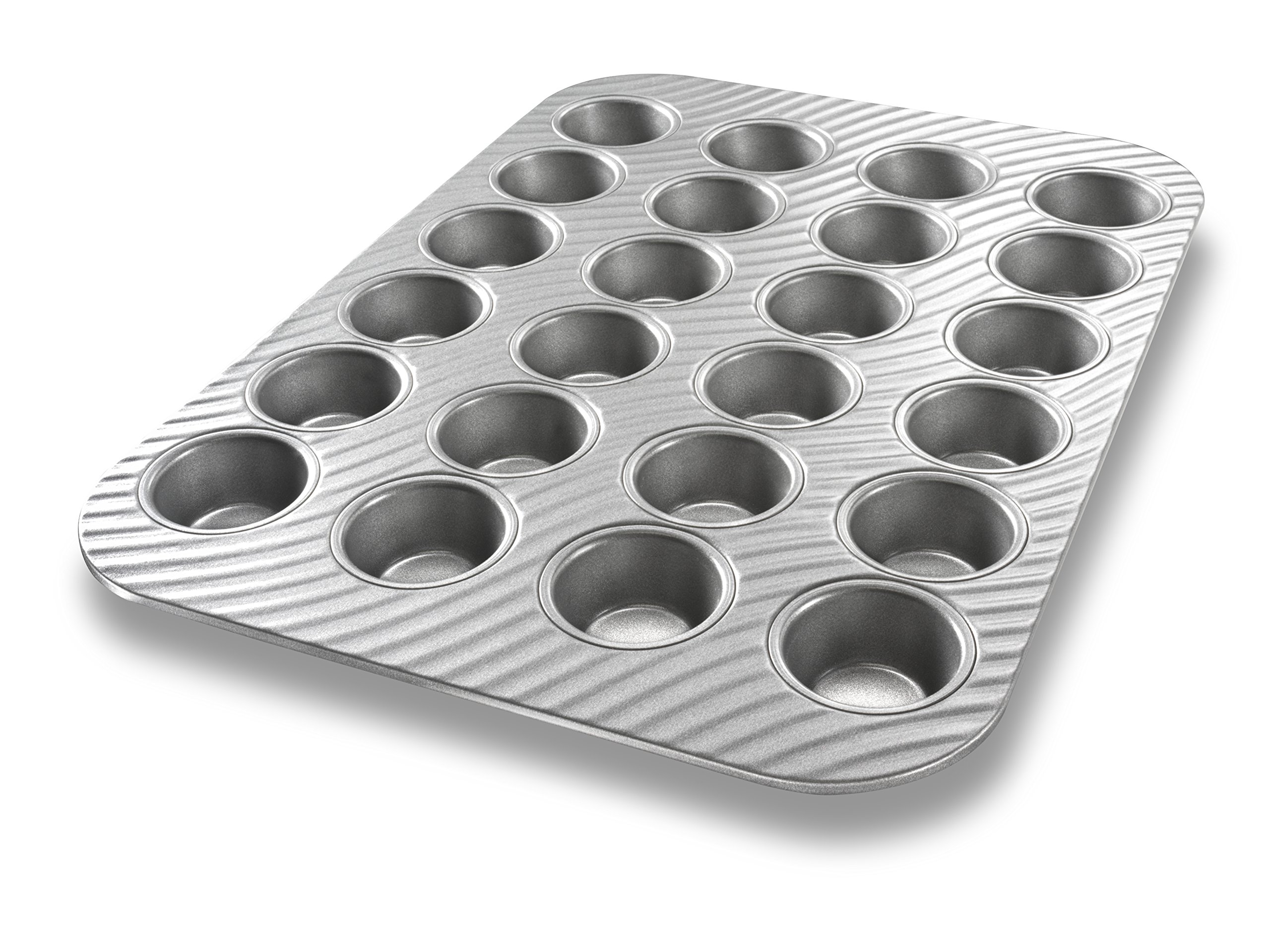 USA Pan Patriot Pan Bakeware Aluminized Steel 24 Cup Mini Muffin Pan