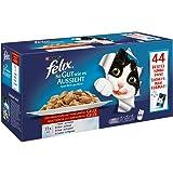 Felix So gut wie es aussieht Fleischauswahl mit Huhn, Rind, Ente, Lamm, 44er Pack (44 x 100 g) Beutel