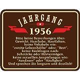 Original RAHMENLOS Blechschild zum 60. Geburtstag: Jahrgang 1956