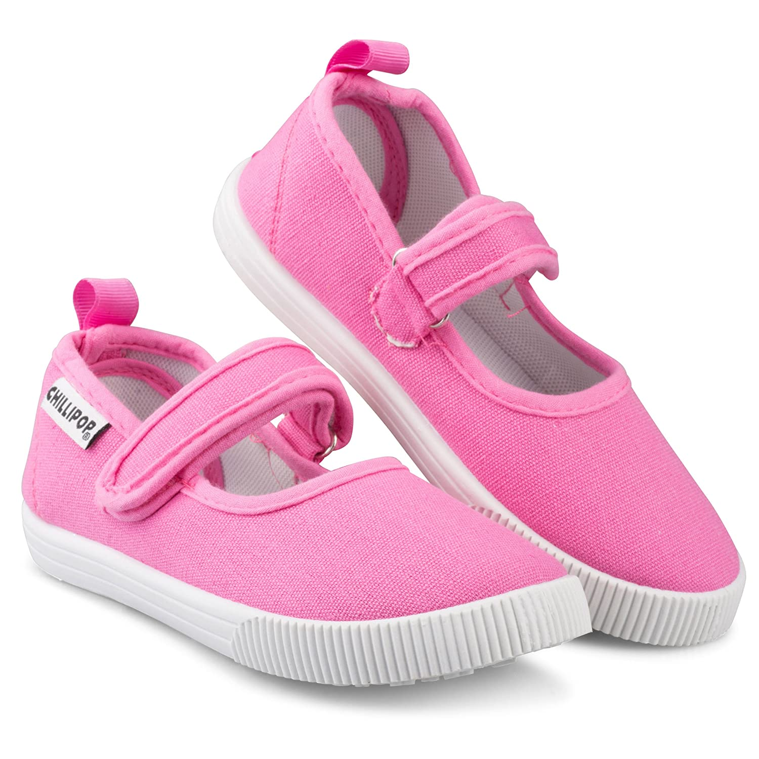 Casual Canvas Shoes Girls Mary Jane Sneakers Toddler Sizes 5-10 Easy Close