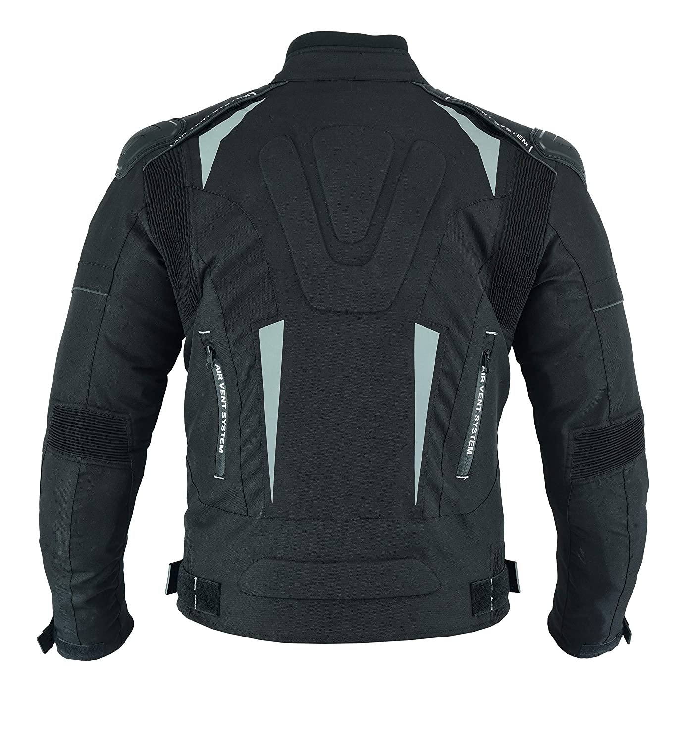 3XL MOTORCYCLE ARMOURED HIGH PROTECTION CORDURA WATERPROOF JACKET BLACK WITH 7 ARMOUR CJ-9434