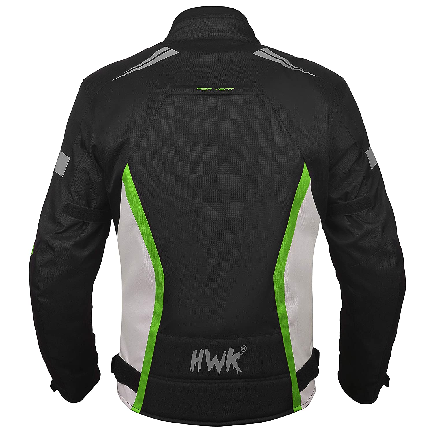 HWK Motorcycle Jacket for Men Cordura Motorbike Racing Biker Riding Breathable CE Armored Waterproof All-Weather Blue, XXX-Large