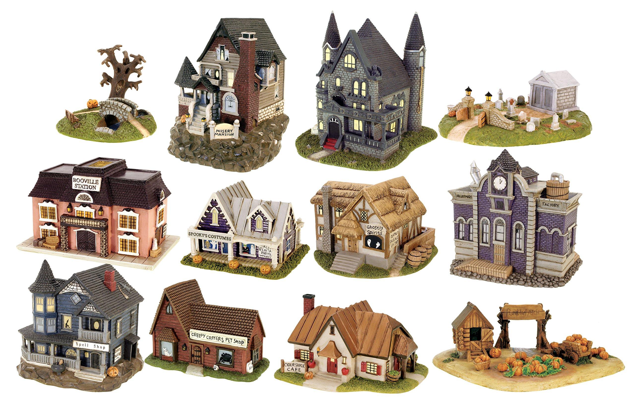 Micro-Trains Haunted Hamlet Village Halloween Indoor Decor Set of 12 Buildings