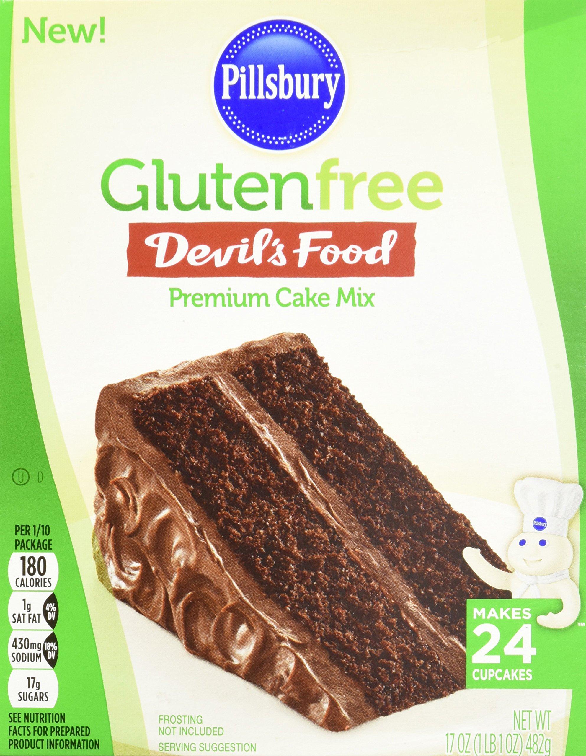 Pillsbury Gluten-Free Devils Food Premium Cake Mix, 17 Ounce (Pack of 12)