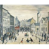 """LOWRY canvas picture 16""""x20"""" framed and ready to hang"""