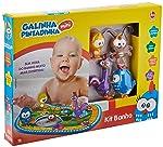 Kit Banho Galinha Pintadinha Mini, Lider Brinquedos, Multicor