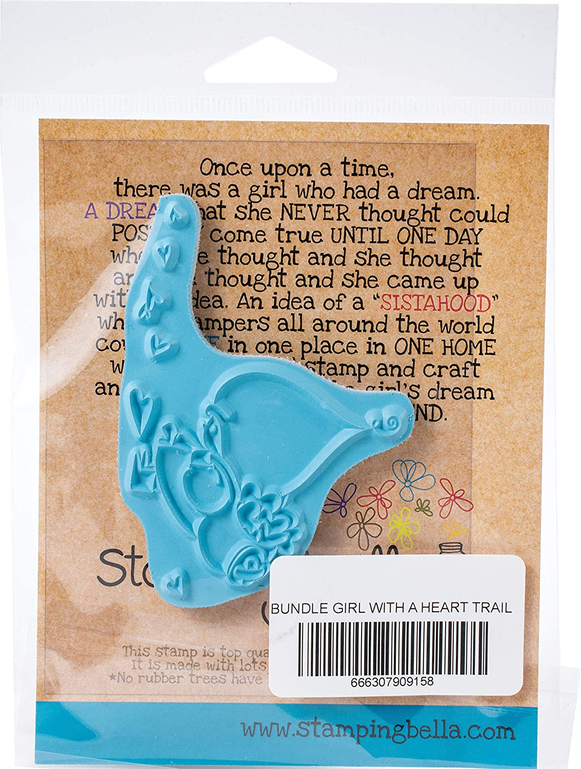 us:one size STAMPING BELLA Stamp TRAI Bundle Girl With A Heart Trail