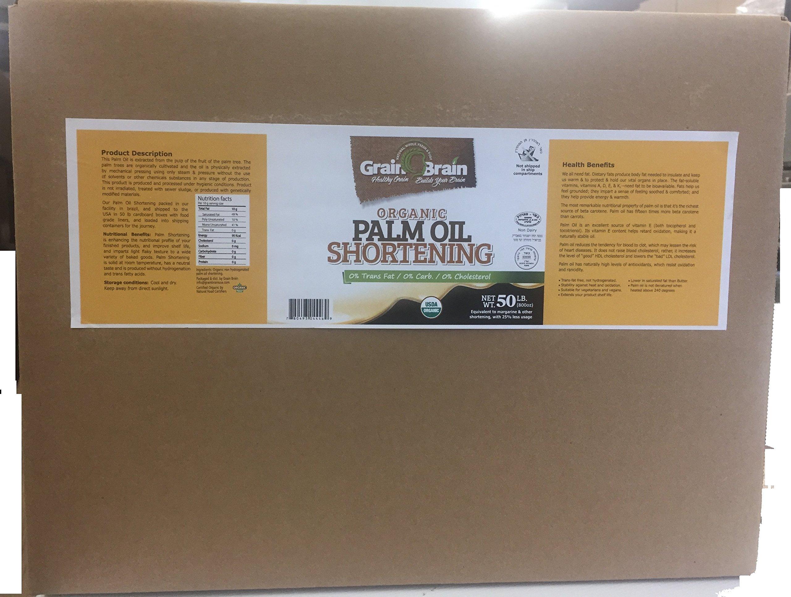 Grain Brain Organic Palm Shortening (50 lb) by GRAIN BRAIN (Image #1)