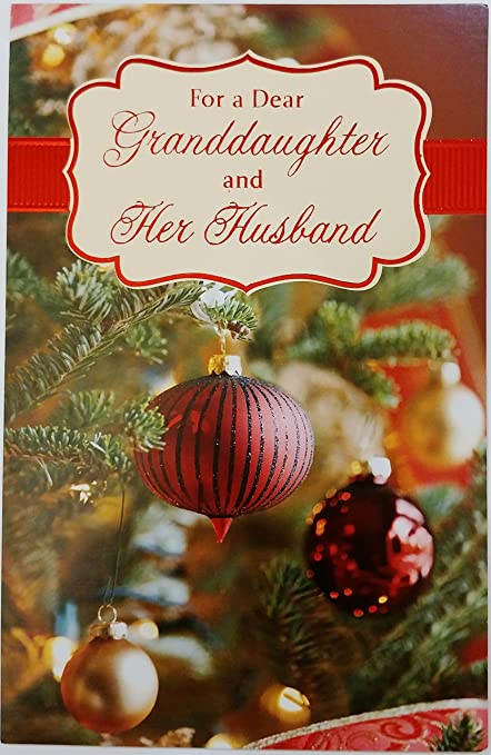 for a dear granddaughter and her husband merry christmas greeting card