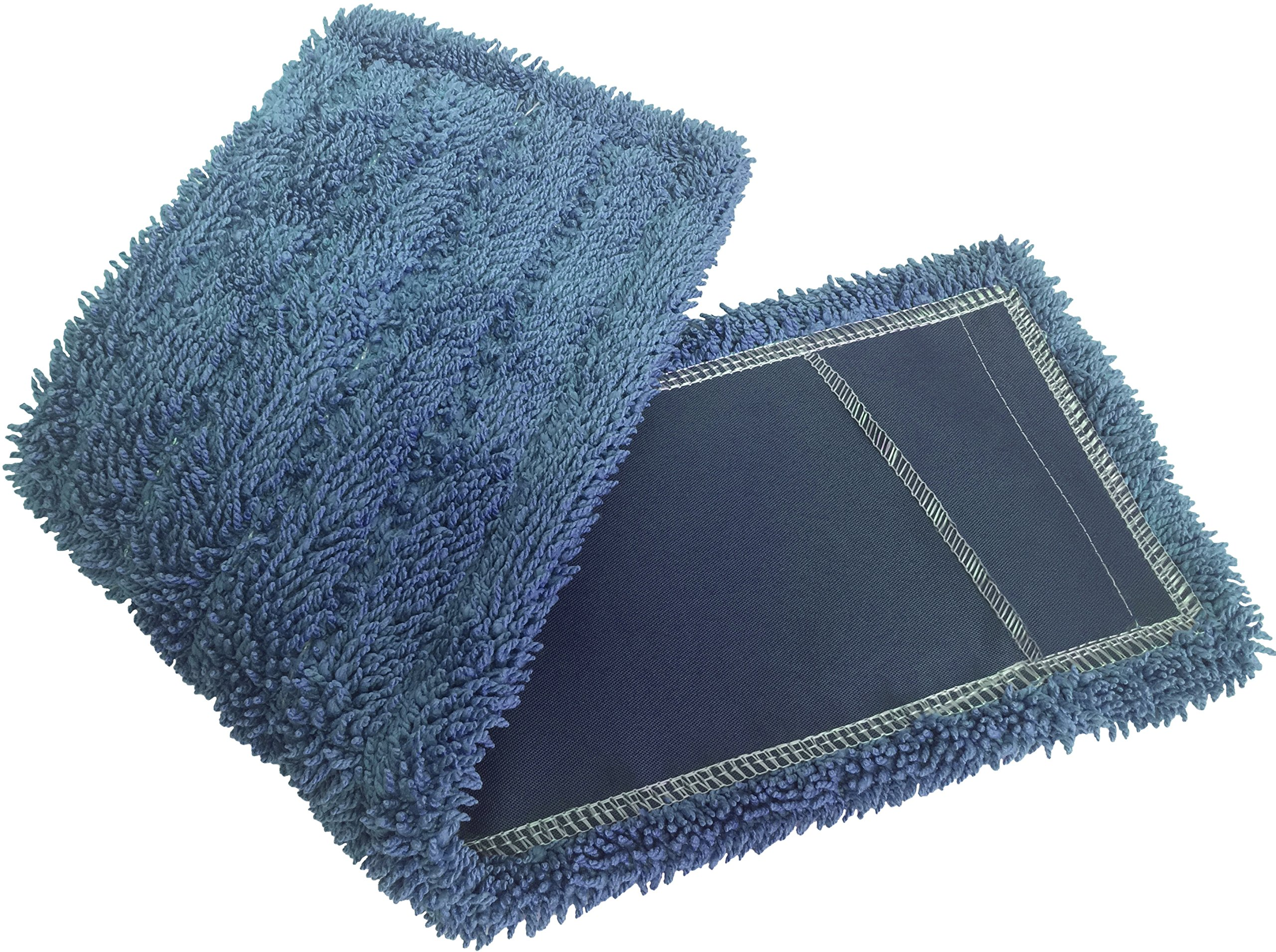 Dust Mops | 72'' Blue-Microfiber Industrial Style - 6 Pack