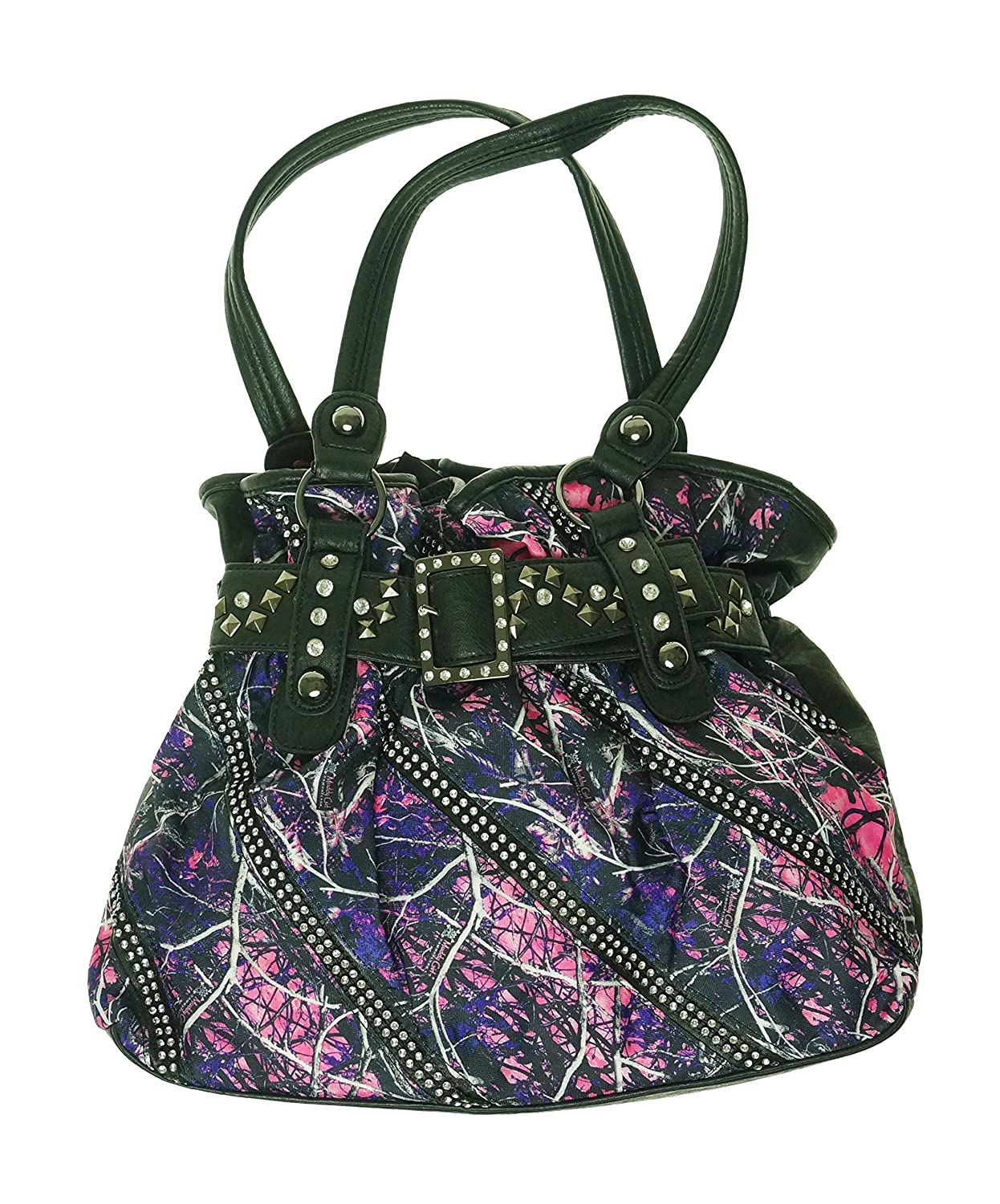 Muddy Girl Print Front Black Back Handbag