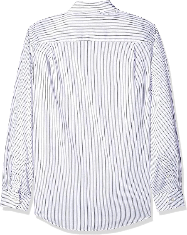 Van Heusen Mens Big and Tall Traveler Stretch Long Sleeve Button Down Blue//White//Purple Shirt