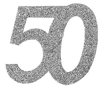 XXL Tischdeko Zahl 50 Geburtstag Gold Glitzer 1 St/ück Party-Deko Palandi/®