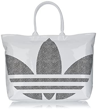 1d859c4ff9 ADIDAS ORIGINALS BIG TREFOIL SHOPPER BAG XXL BAG BEACH BAG WHITE BLACK -  White, one size: Amazon.co.uk: Clothing