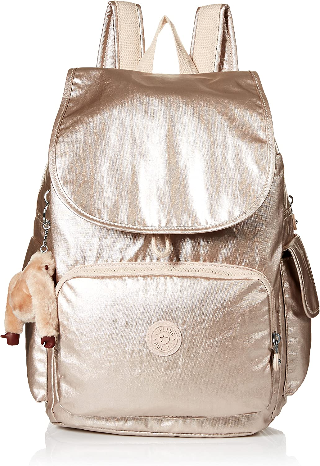 Kipling Women's City Pack Sparkly Gold Backpack, One Size