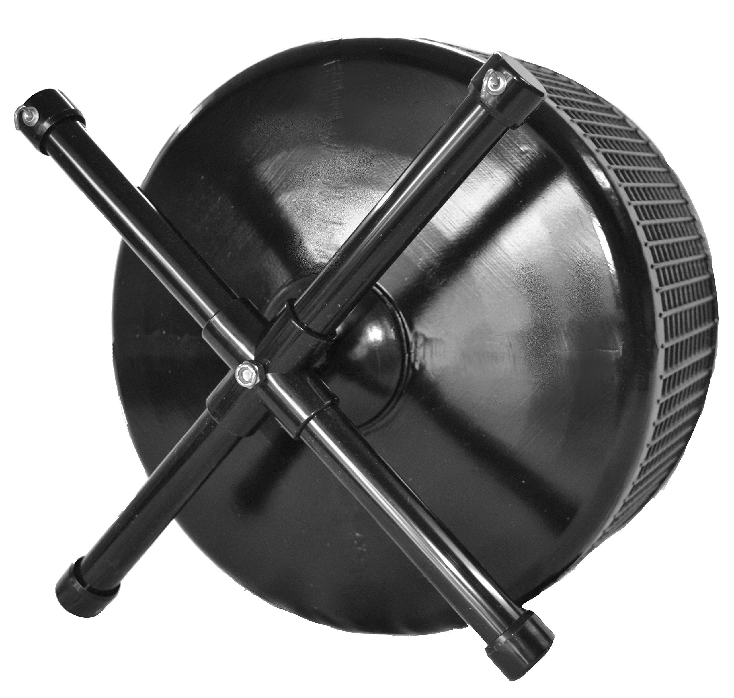 Atticworx Sugar Glider Wheel-12 inch Stealth Freedom 19 Wheel; Black with Cage Side Mount by Atticworx