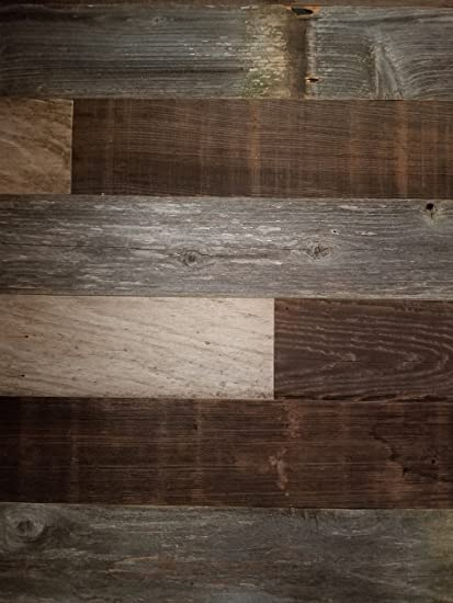 Amazon.com: Peel And Stick Reclaimed Barn Wood Planks For Walls, Real  Rustic Wall Paneling For Home Decor   Easy DIY Installation U2026: Home  Improvement